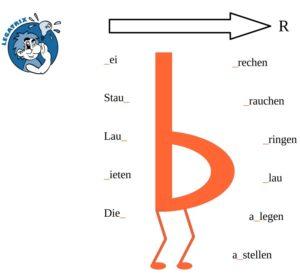 verwechseln von d und b